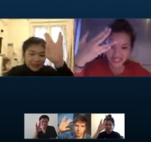 skype time with my friends