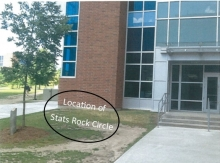 Proposed area for Statistics Rock Circle