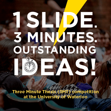 Three Minute Thesis promotional graphic
