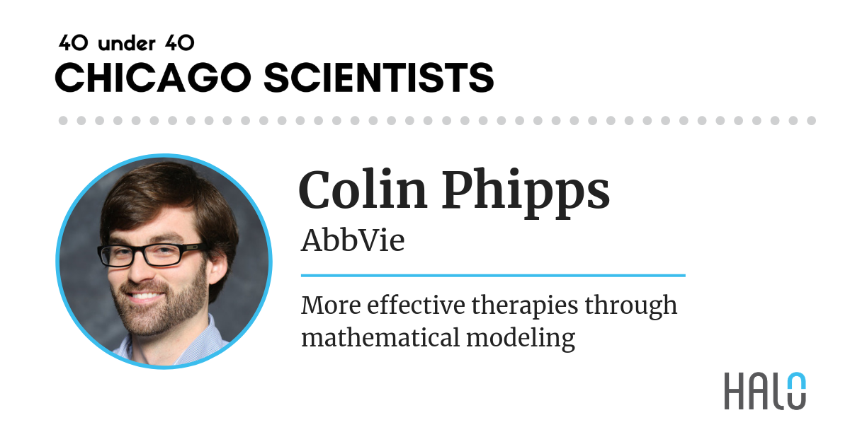 Colin Phipps, AbbVie. Top 40 under 40 Chicago Scientists