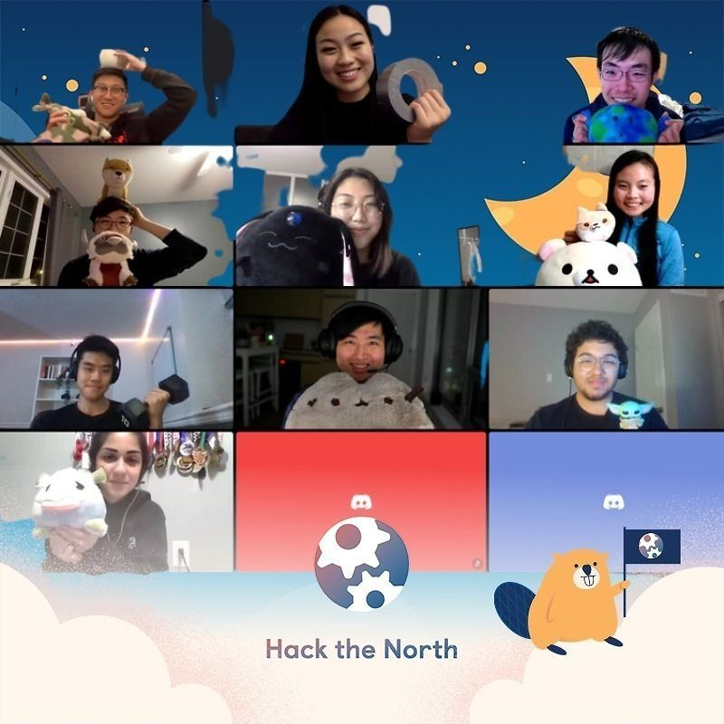 Hack the North participants in a screenshot