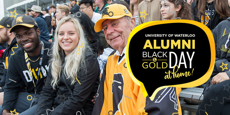 Waterloo alumni at previous Black and Gold Day event