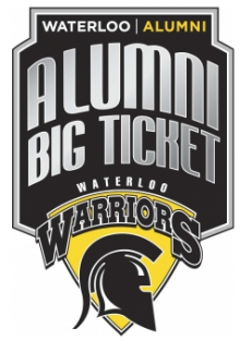 UWaterloo Warriors Alumni Big Ticket logo.