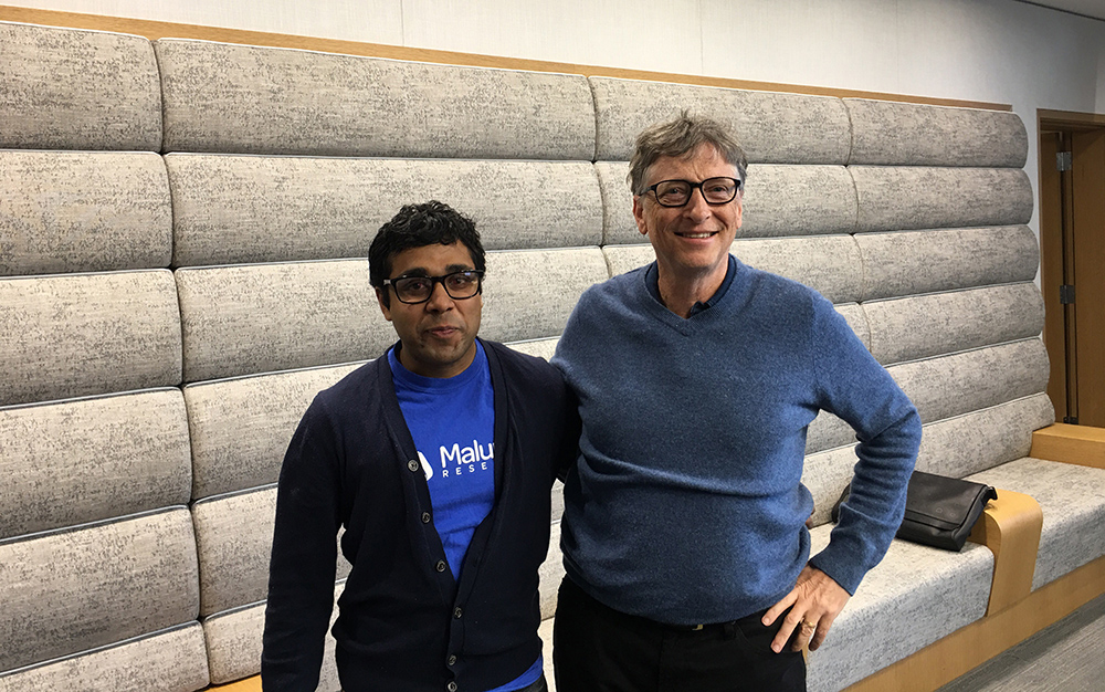 Sam Pasupalak and Bill Gates