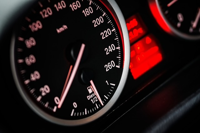 Motor vehicle speedometer