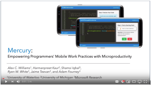 Mercury - a new tool lets programmers pick up work on mobile devices