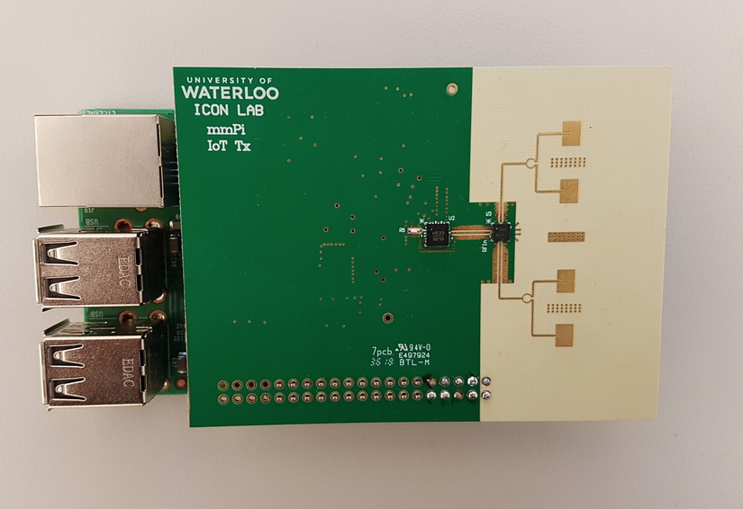 A new mmWave device developed by researchers at the University of Waterloo for IoT applications.