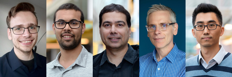 Brad Glasbergen, Michael Abebe, Khuzaima Daudjee, Daniel Vogel and Jian Zhao