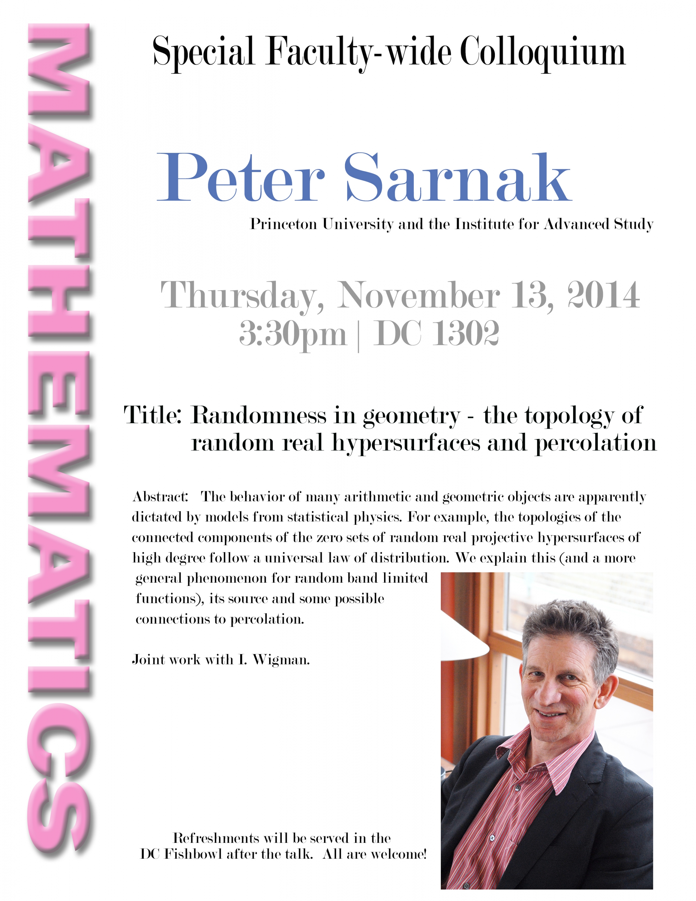 Sarnak talk flyer.