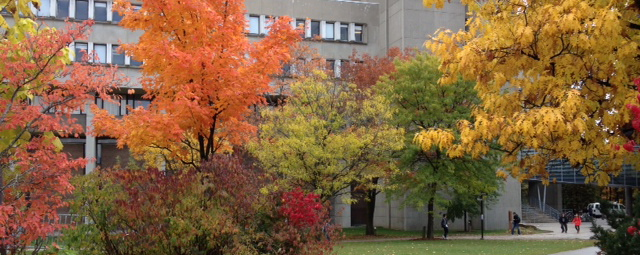 Math and Computing building in the fall
