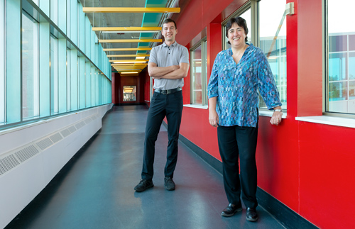 PhD graduate Fiodar Kazhamiaka and his co-supervisor Professor Catherine Rosenberg