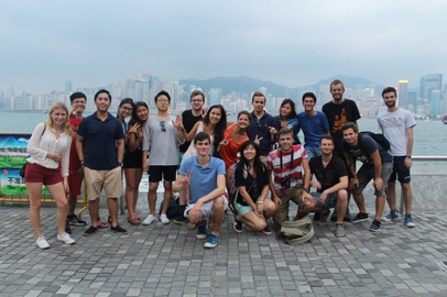 Group phote at Avenue of Stars Hong Kong