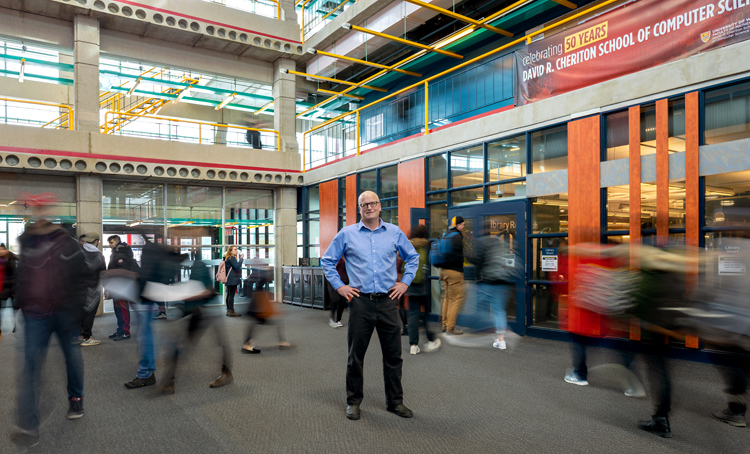 Jesse Hoey in the Davis Centre atrium