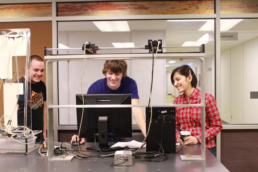 Students in the lab.
