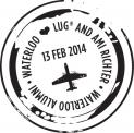 Waterloo Alumni - Waterloo Loves Lug and Ami Richter stamp.