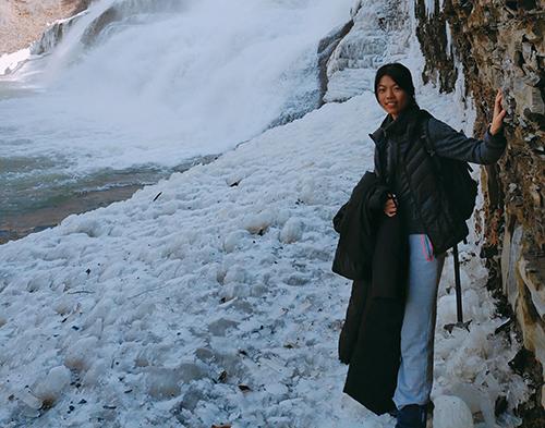 Wanchun Shen by a frozen river