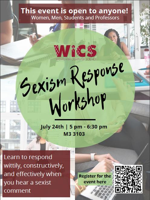 Sexism Response Workshop Poster