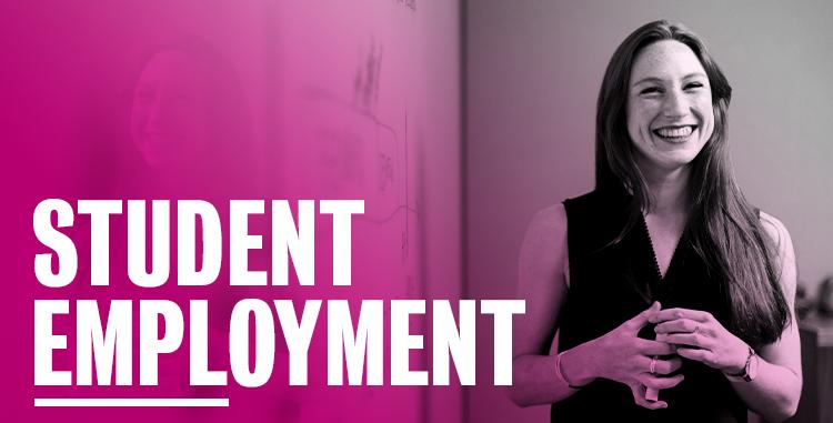 Student employment header