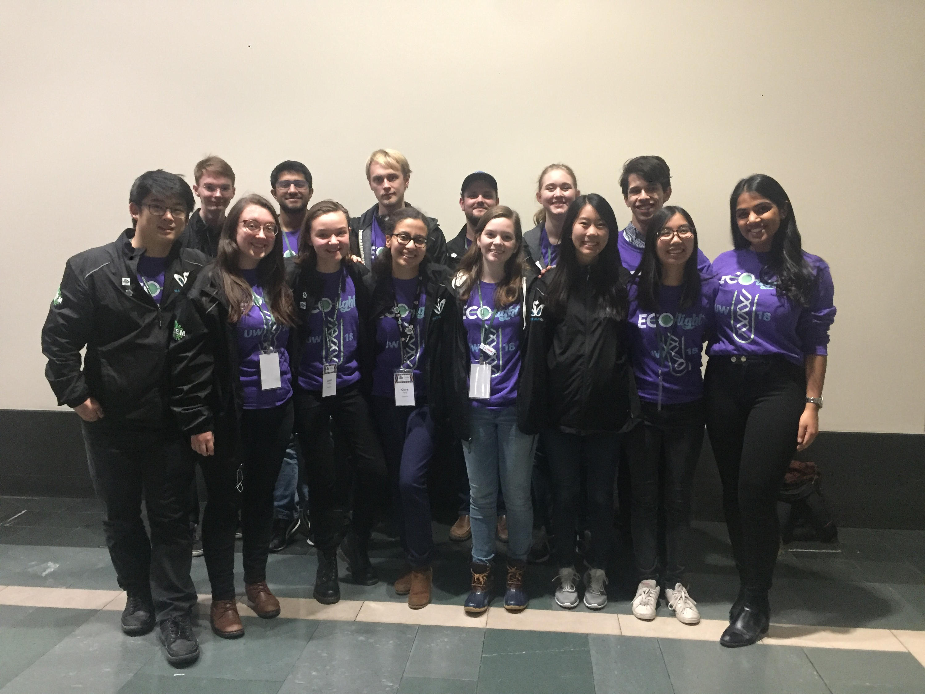 Waterloo iGEM team poses at competition