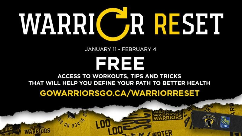 Warrior reset program gowarriorsgo.ca/warriorreset