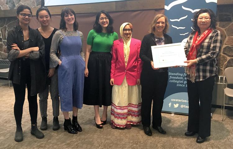 Saadiya Desai, Helen (Shiqi) Yang, Anna Lorimer, Arshia Mufti, Fatema Boxwala, Professor Jo Atlee