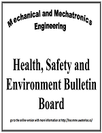 Health, Safety and Environment Bulletin Board poster to indicate where to find online copies of documents from the bulletin board.