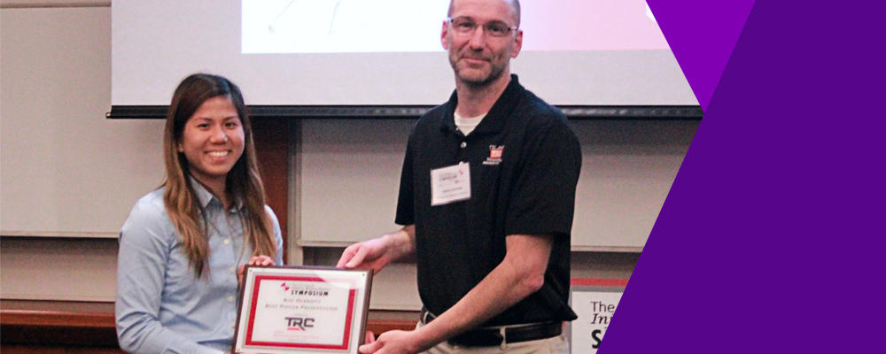 Masters student wins award at 14th annual injury biomechanics symposium
