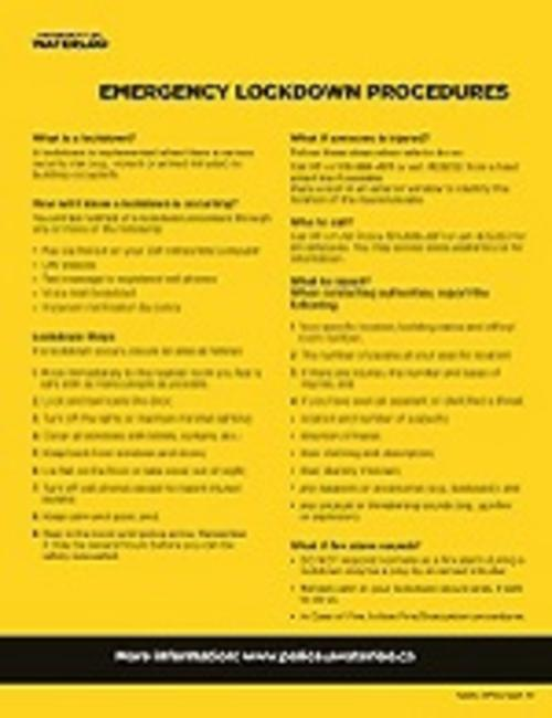 emergency lockdown procedures