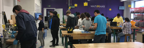 Students working in WATiMake