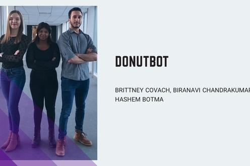 DonutBot aims decorates high-quality, customized donuts on-the-spot using a robotic arm and an automated controls system, within