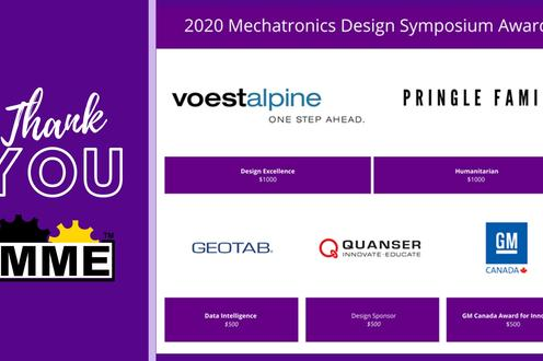 Thank you to our sponsors: Voestalpine, Pringle Family, GeoTab, Quanser, GM Canada...