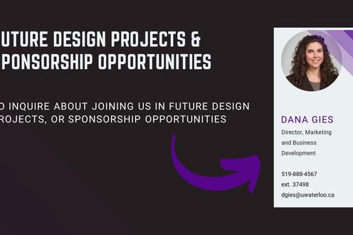 FUTURE DESIGN PROJECTS & SPONSORSHIP OPPORTUNITIES