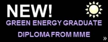 New green energy graduate diploma for mme