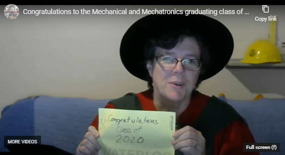 Congratulations Message from Professors