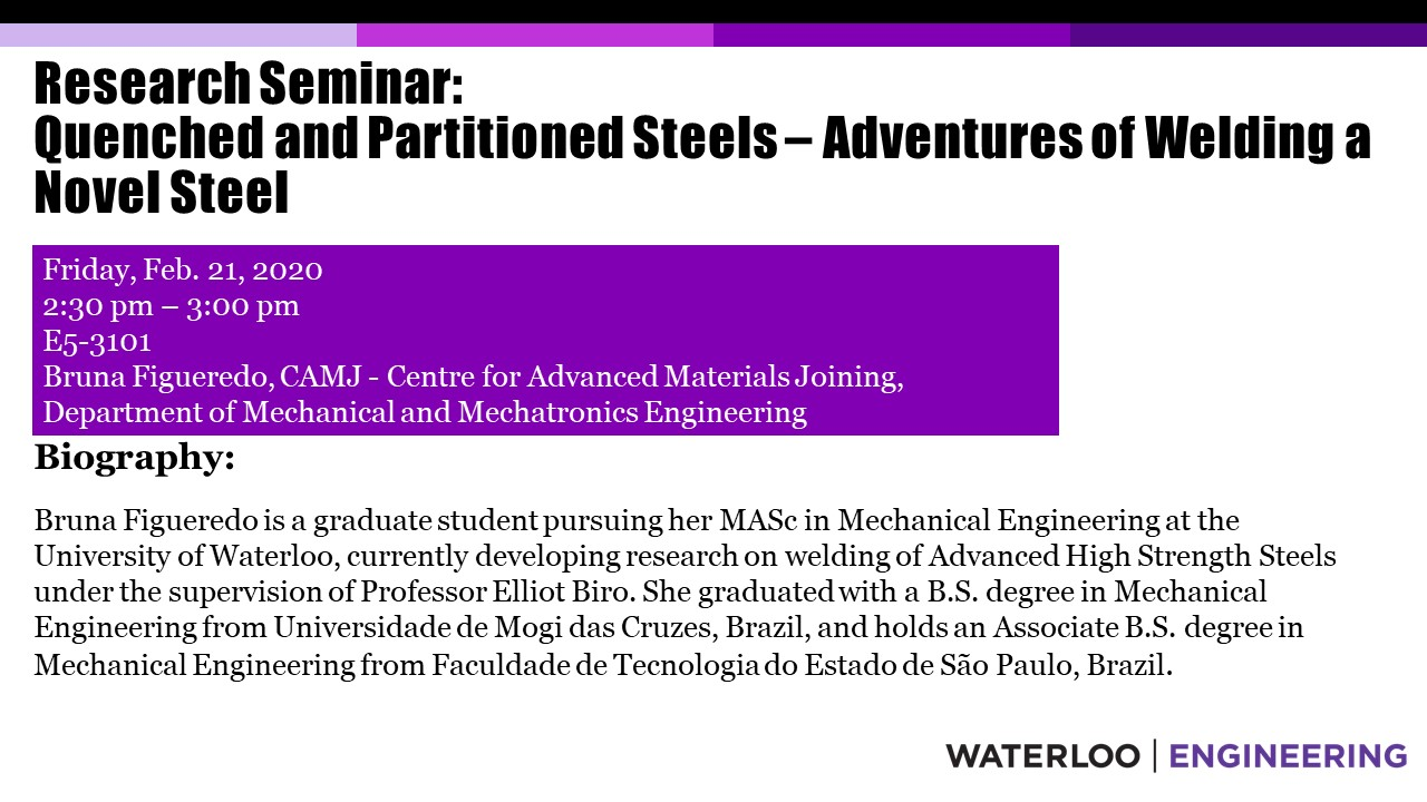 MME Graduate Student Seminar page