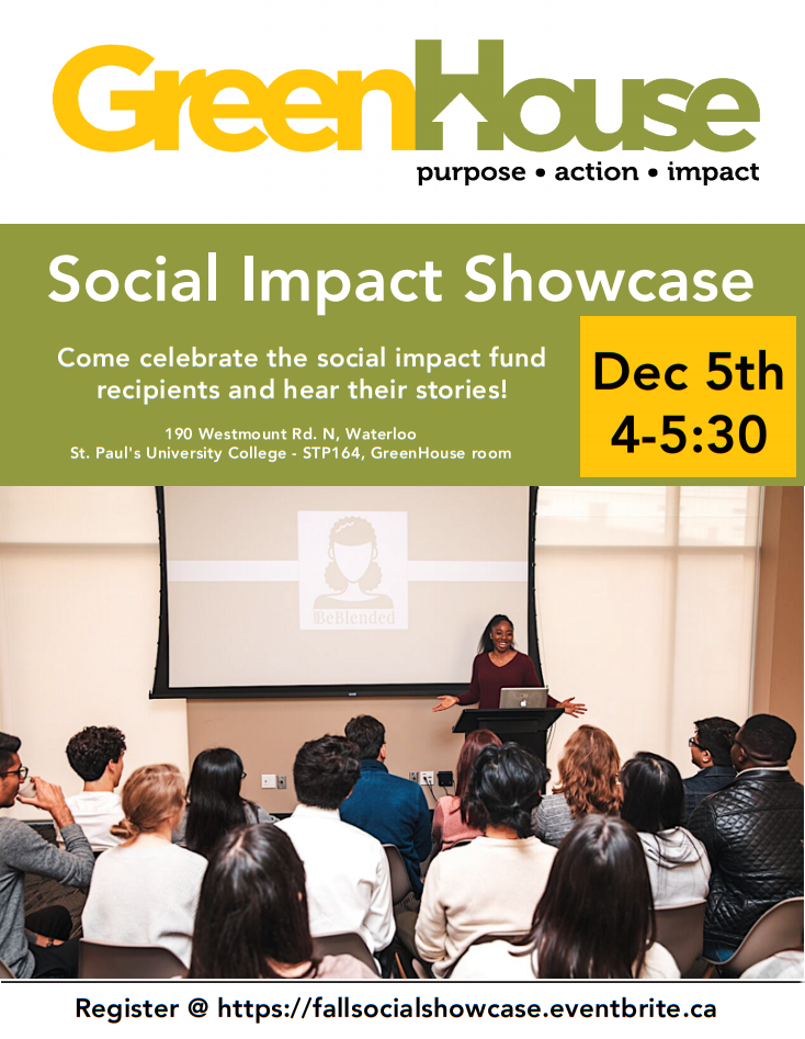 Greenhouse social impact showcase flyer