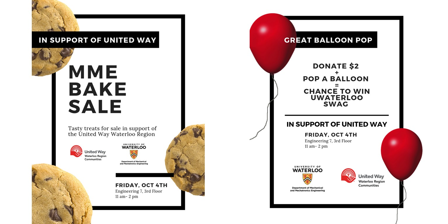 MME bake sale and balloon pop