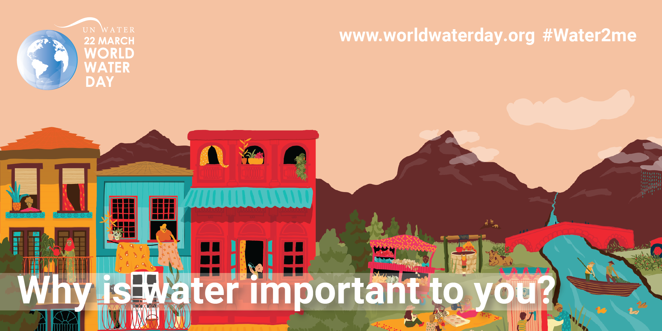 UN World Water Day March 22. Why is water important to you? Learn more at www.worldwaterday.org