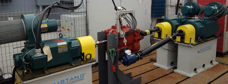 Three dynamometer system for powertrain and anti-idling testing.