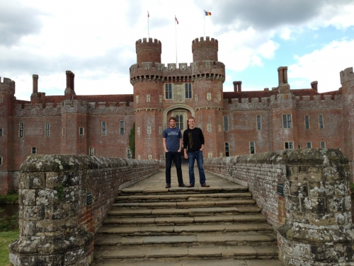Students at Herstmonceux Castle