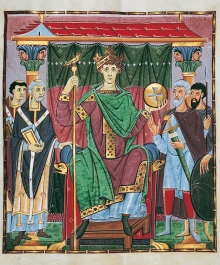 Image of king from manuscript