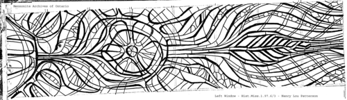 Archives sketch of the Grebel Chapel window left