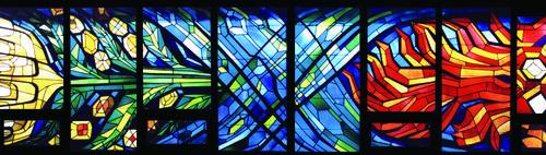 Photo of chapel windows at grebel right
