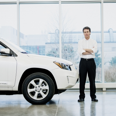 Dr. John McPhee and the electric Toyota RAV4
