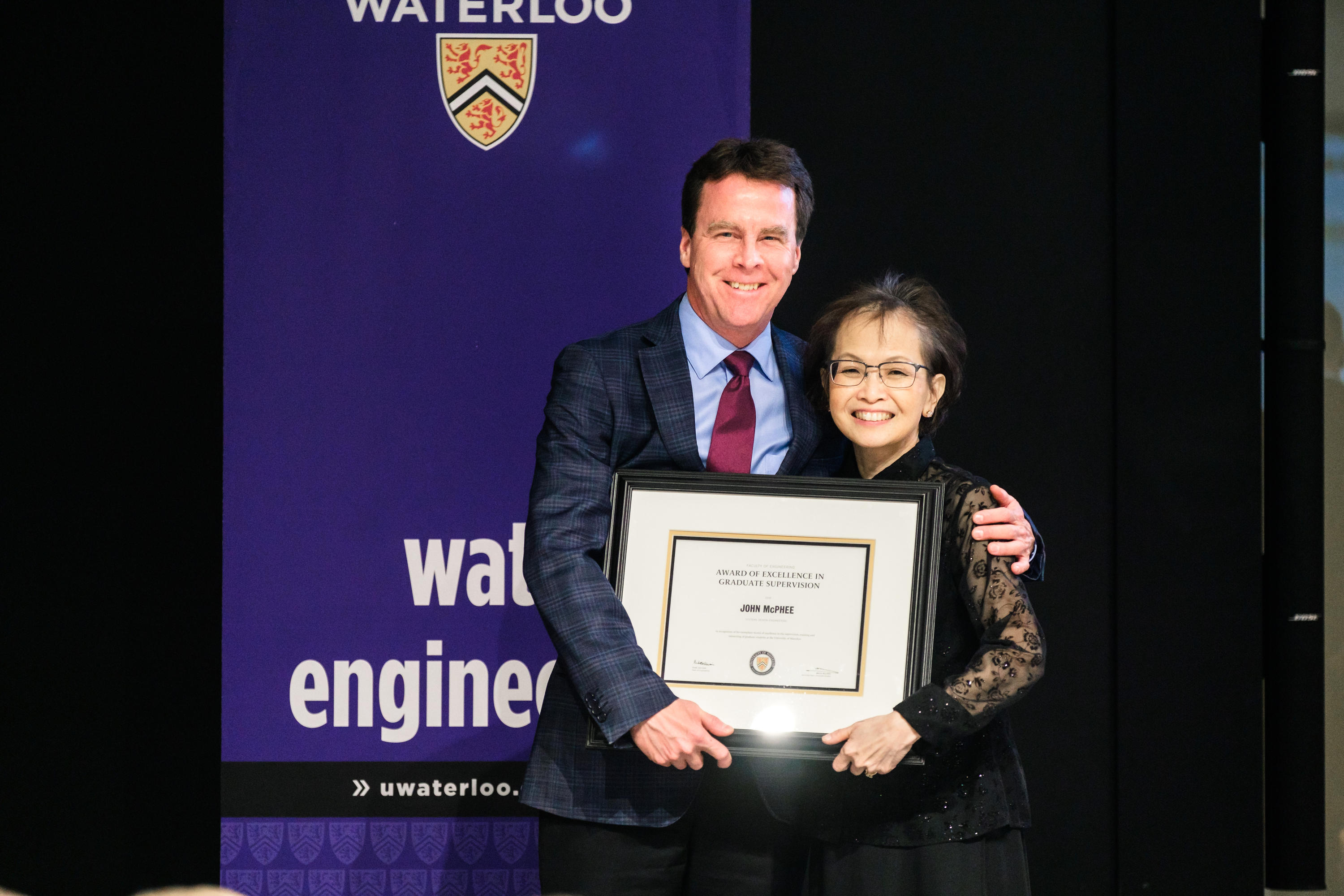 John McPhee recieves Waterloo Engineering awards