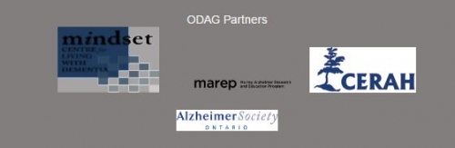 Mindset Centre for Living with Dementia, MAREP, CERAH, Alzheimer Society Ontario