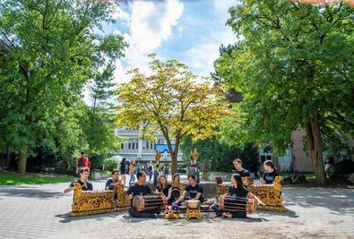 Gamelan in Rock Garden