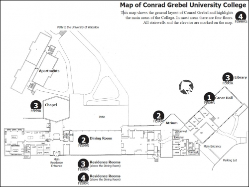 An aerial view of Conrad Grebel