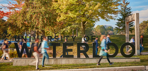 uwaterloo front sign