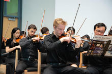 String section of orchestra